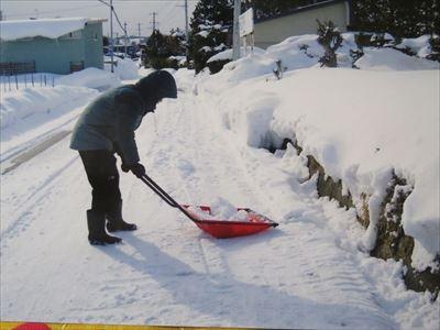 雪かき体験