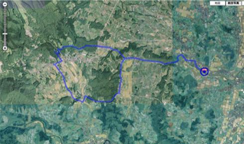 初中級者向けコース(冬季対応)コース航空写真